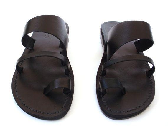 SALE New Leather Sandals TRIPLE Men's Shoes by Sandalimshop