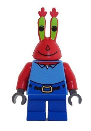 Mr. Krabs - LEGO Spongebob Squarepants Figure by LEGO. $6.97. LEGO Mr. Krabs Minifigure. From LEGO Spongebob Squarepants sets. 2 inches tall. Full of greed. Lego Mr. Krabs Minifigure.