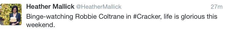 Robbie Coltrane in #Cracker