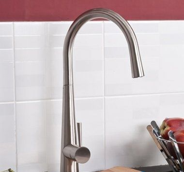 Narva Brushed Steel Kitchen Mixer Tap - Swivel Spout [PT-TK146] - £90.74 : Platinum Taps & Bathrooms