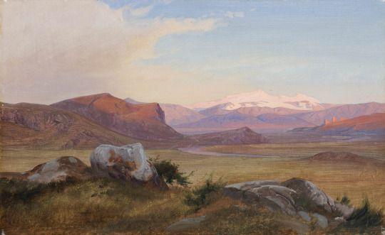 View of the Roman Campagna, 1845, Johan Thomas Lundbye