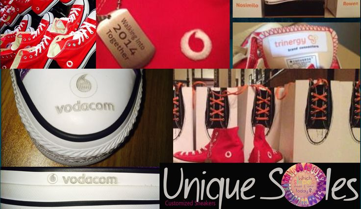 Customised Converse. Corporate Logo on Converse. Dog tags on Converse. Engraved soles. Unique Soles.