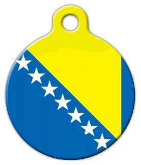 Flag of Bosnia-Herzegovina Pet ID Tag for Dogs and Cats - Dog Tag Art -- Click image to review more details.