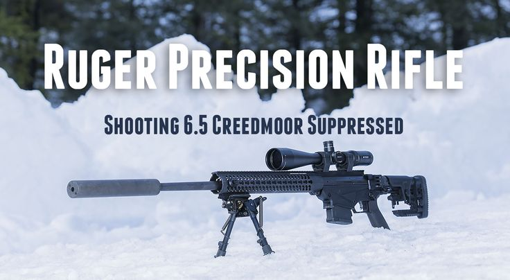 Ruger Precision Rifle in 6.5 Creedmoor with Silencer