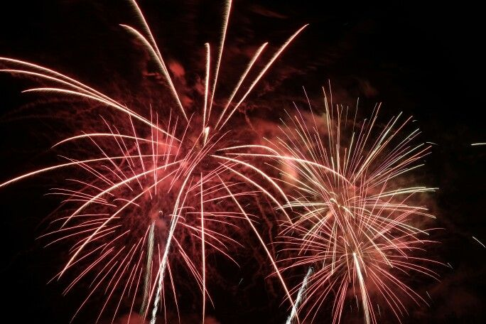 Fireworks at Puy-l'Évêque