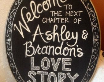 Hand Painted Welcome Sign for Bridal Shower or by HandpaintedByE