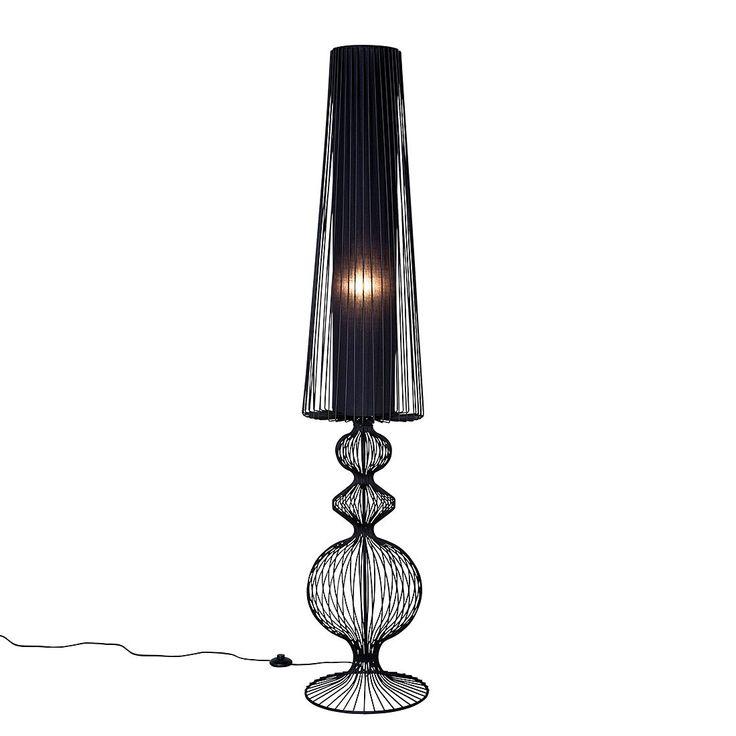 EEK A++, Stehlampe Swing Iron Uno - Eisen Schwarz, Kare Design