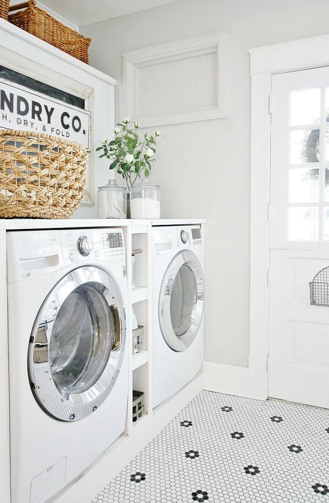 How To Hide Your Trash Can Mini Barn Door Laundry Room Storage