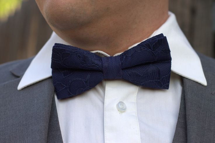 Midnight Blue Bow Tie - Blue Lace Bow Tie - Midnight Blue Lace - Men's Bow Tie - Baby Bow Tie - Deep blue bow tie - Navy blue bow tie by OneDaintyTulip on Etsy https://www.etsy.com/listing/268070974/midnight-blue-bow-tie-blue-lace-bow-tie