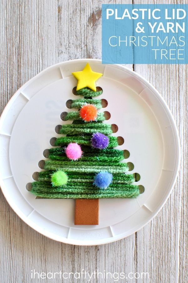 This plastic lid Christmas tree sewing craft is festive, cute and is awesome for a fine motor activity for kids. Fun Christmas craft for kids, Christmas tree craft, sewing craft for kids and winter kids craft.