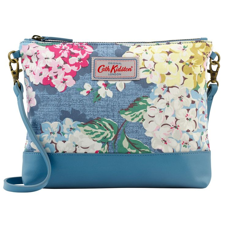 Hydrangea Small Cross Body Canvas & Leather Bag | Cath Kidston |