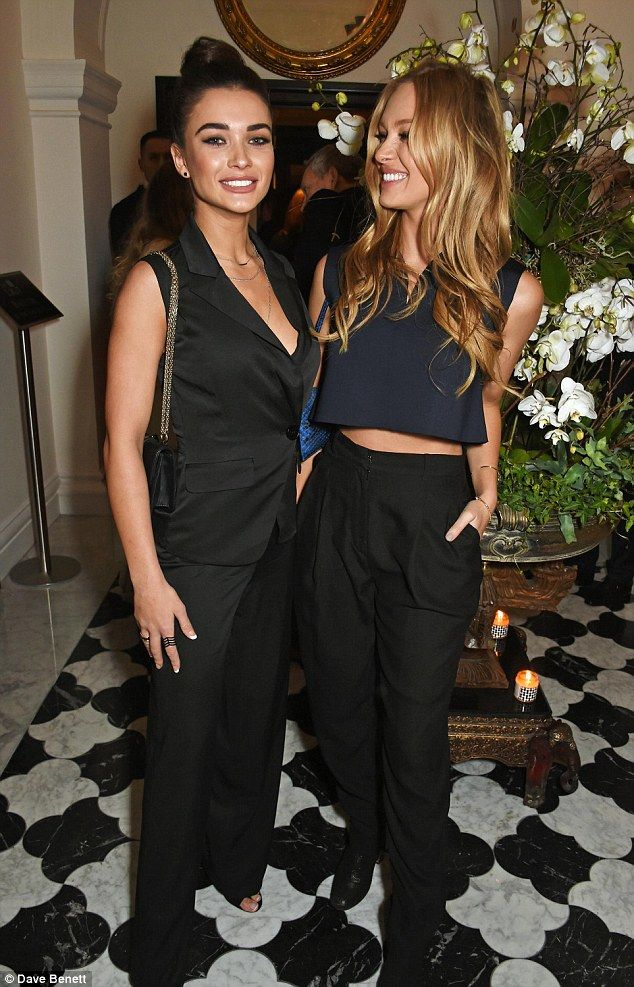 Picture perfect: Roxy caught up with British Bollywood star Amy Jackson at the party...