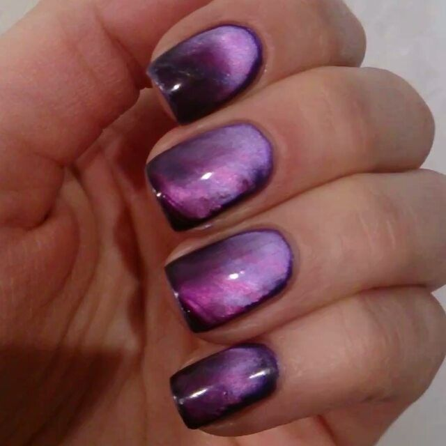 Masura magnetic nail polish. So cool!!! This is a video showing the final look.