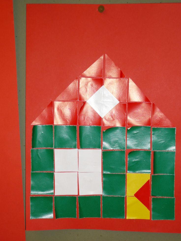 huis van vierkantjes en driehoekjes