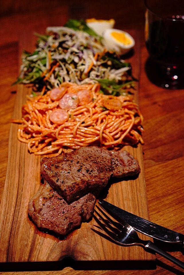 てつや's dish photo 大人のお子様ランチ   って夜だけど   http://snapdish.co #SnapDish #肉料理 #焼く/炒め物 #ワイン
