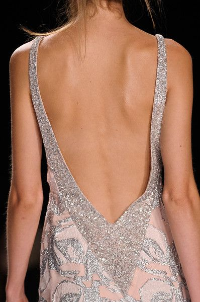 Badgley Mischka Spring 2013 - Details: Fashion Weeks, Mischka Spring, Backless Dresses, New York Fashion,  Bandeau, Badgley Mischka, Spring 2013, Nyfw 2013, Badgleymischka