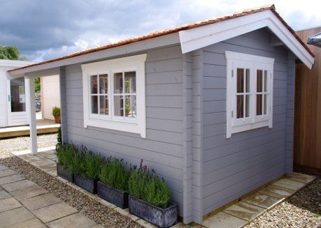 Painted Log Cabins Google Search Home And Plans Pinterest Cabin Garden Shed