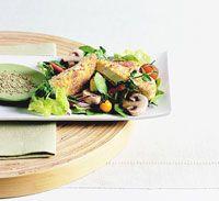Fried Tofu and Watercress Salad Recipe
