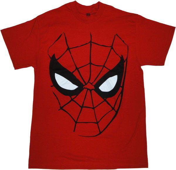4dcc203ff23f3d Spiderman Mask T Shirt
