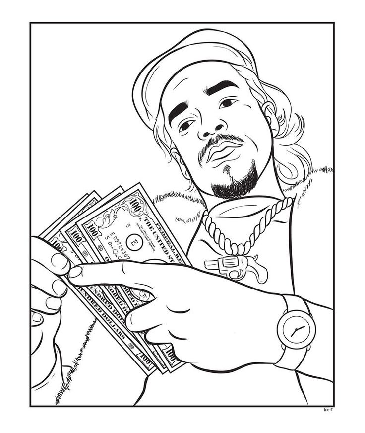 crafts with kanye a new book lets you color in your favorite rappers bun bcoloring - Bun B Coloring Book