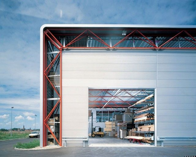 413 best industrial buildings images on pinterest for Modern factory building design