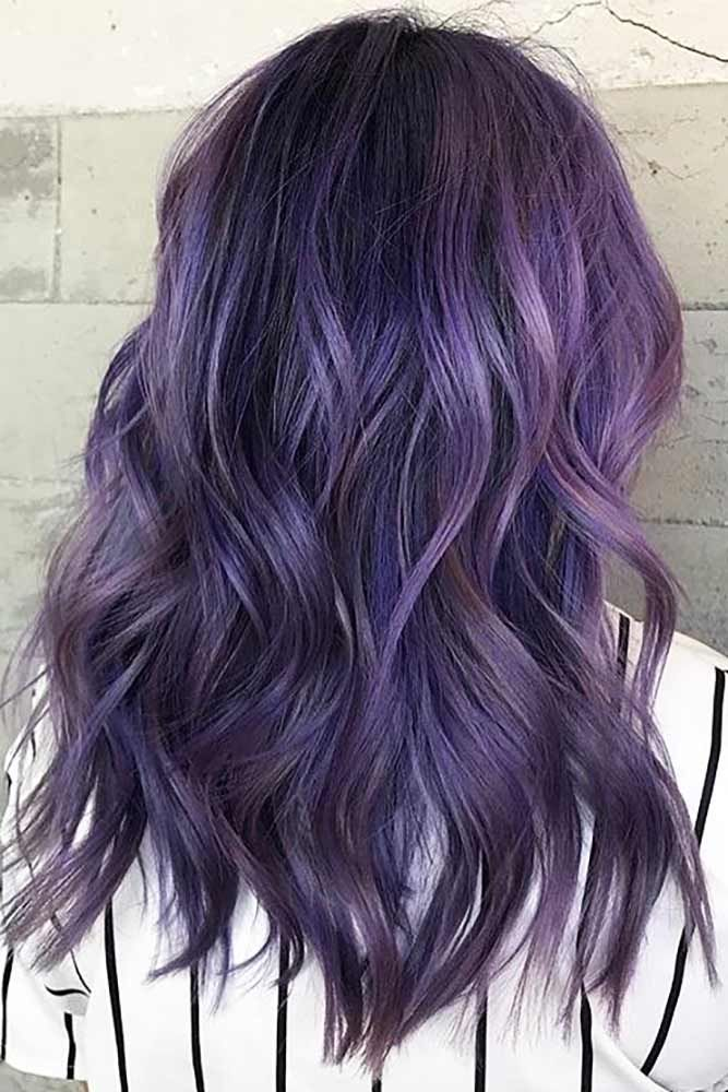 50 Cosmic Dark Purple Hair Hues For The New Image Dark Purple