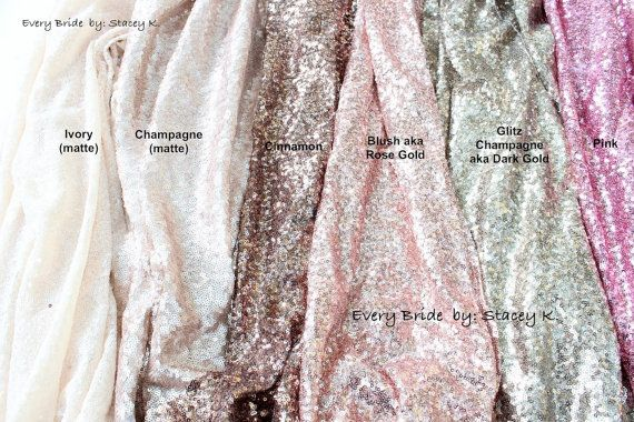 SALE Choose your Color & Size Sequin Tablecloth by EveryBride