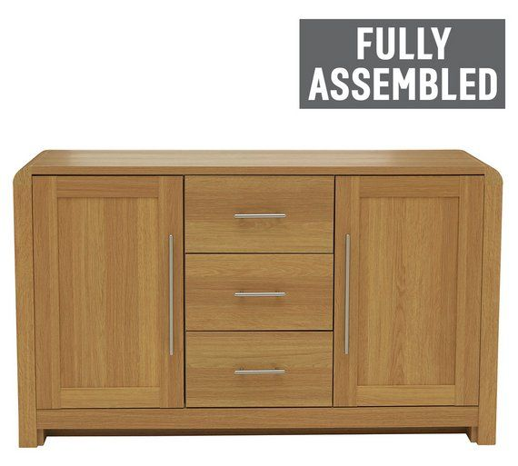 Buy Heart of House Elford 2 Door 3 Dwr Sideboard - Oak Effect at Argos.co.uk, visit Argos.co.uk to shop online for Sideboards and dressers, Living room furniture, Home and garden