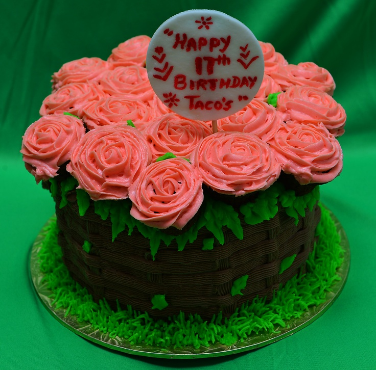 Chocolate Cake With Buttercream Roses