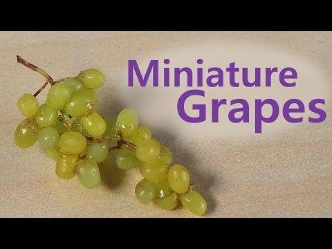 Como hacer uvas en miniatura