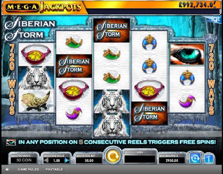 Siberian Storm - Tragaperras Mega Jackpot Siberian Storm es una máquina de la compañía IGT, que ofrece al jugador sorprendentes 720 líneas de pago.....http://www.tragamonedas-paraiso.com/juegos/siberian-storm