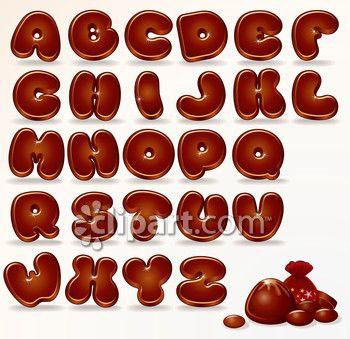Clipart.com Closeup | Royalty-Free Image of abc,alphabet,alphabets,bubble,chocolate,chocolates,education,educational,letter,letters