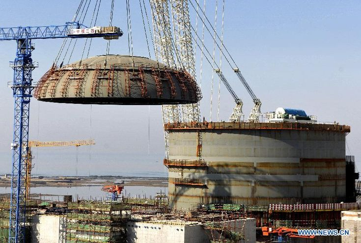 First unit of Haiyang Nuclear Power Plant completes construction.