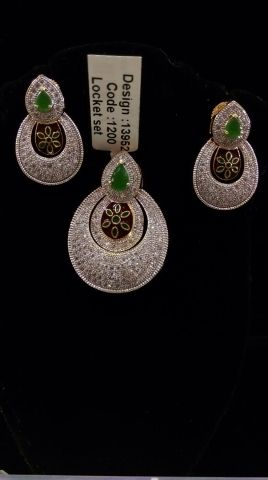 AMERICAN DIAMOND LOCKET SETS (ONLY RED COLOUR AVAILABLE) #Fabme #pendantsets