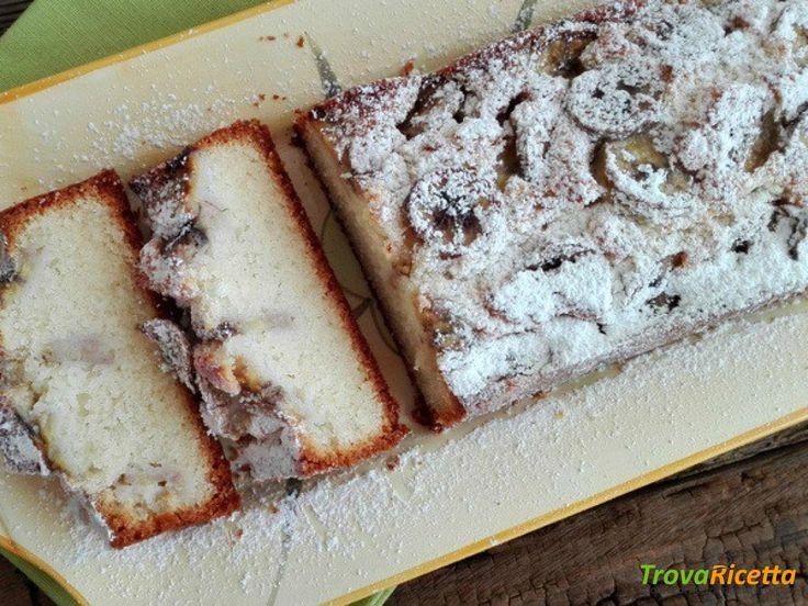 Plumcake alla banana con solo albumi  #ricette #food #recipes