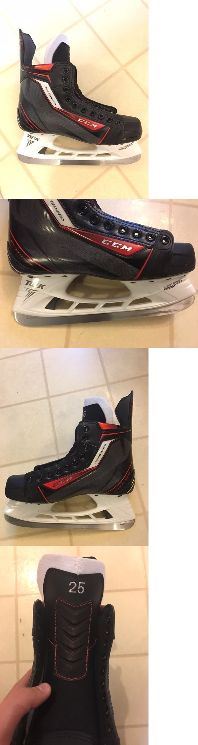 Ice Hockey-Adult 20858: Ccm Sr. Pro Jetspeed Hockey Skates Brand New Size 8 Bauer Tuuk Blade -> BUY IT NOW ONLY: $500 on eBay!