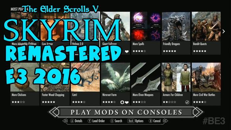 The Elder Scrolls V Skyrim Remastered Special Edition E3 2016 Trailer 4K PS4, Xbox One https://www.youtube.com/watch?v=j2b7cPr3BUY #Skyrimremaster #Skyrimremastered #Skyrimremasteredps4
