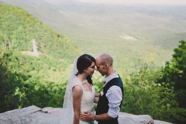 Mountain Wedding Photos captured by Brett & Jessica Photography- North Carolina Mountain Wedding