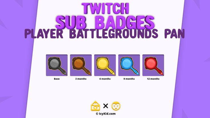 Player battlegrounds pan premium sub twitch marketing