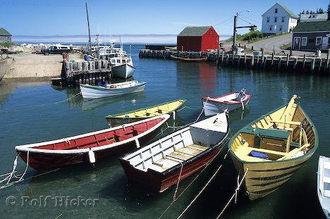 Halls Harbour, in Nova Scotia, Canada