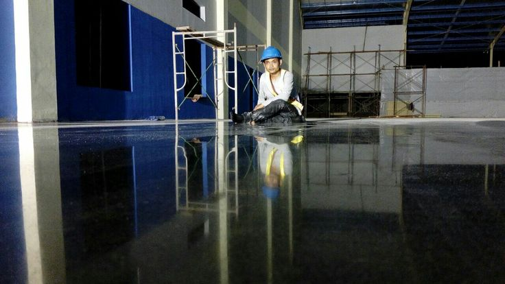 Alone on the floor by Teknoklinz Indonesia Polished Concrete Expert
