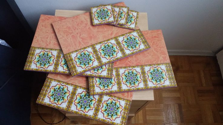 place mats and cupholders (4) by CraftsElisa on Etsy