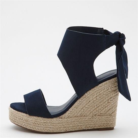 Sandales compensées à noud - Collection Chaussures - Pimkie France