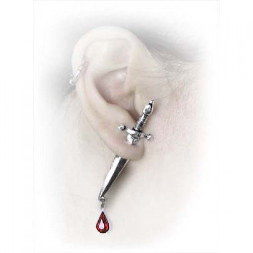 Alchemy Gothic Cesare S Veto Stud Single Dagger Earring Goth Pewter Jewellery In Watches Costume Earrings