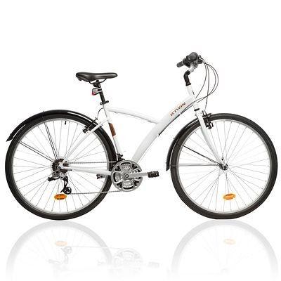 VELO Velos Vélos, cyclisme - VTC Original 300 blanc B'TWIN - Vélos