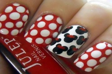 Minnie+Mouse+Pedicure+Designs | 3D Strawberry Stickers Cute Nail Designs for Short Nails