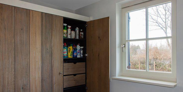 houten keuken piet boon landelijke keuken houten servieskast mooie bijkeuken modern landelijk landelijk wonen