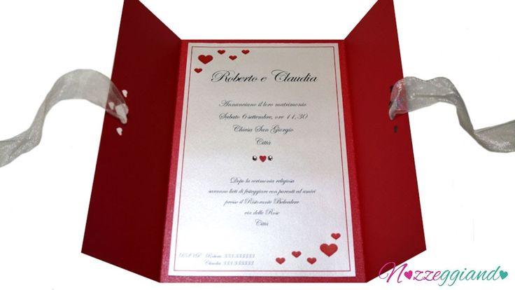 Partecipazioni nozze fatte a mano -  XXL -  Trailer Nozzeggiando