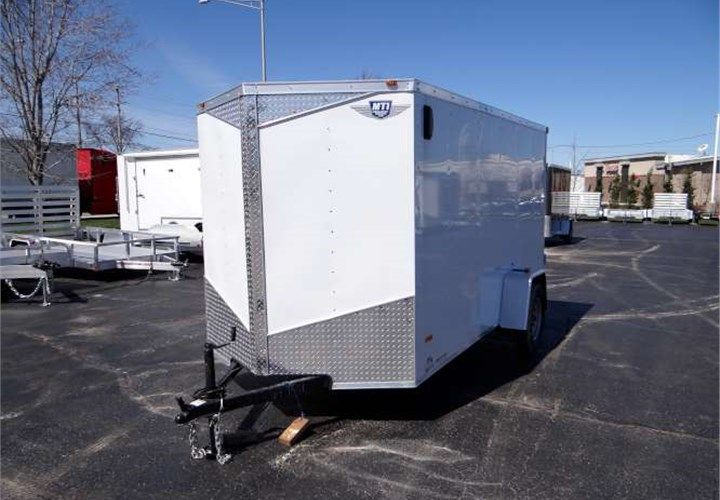 6' x 12' White Cargo Trailer With Rear Swing Doors. This Is a Very Nice 6' x 12' Cargo Trailer with Rear Swing Doors, a Pair of Flip-Down Stabilizer Jacks, and an ATP Stone Guard. $3,095 Any applicable fees and taxes are extra. Ref # HM644351 | Advantage Trailers and Hitches