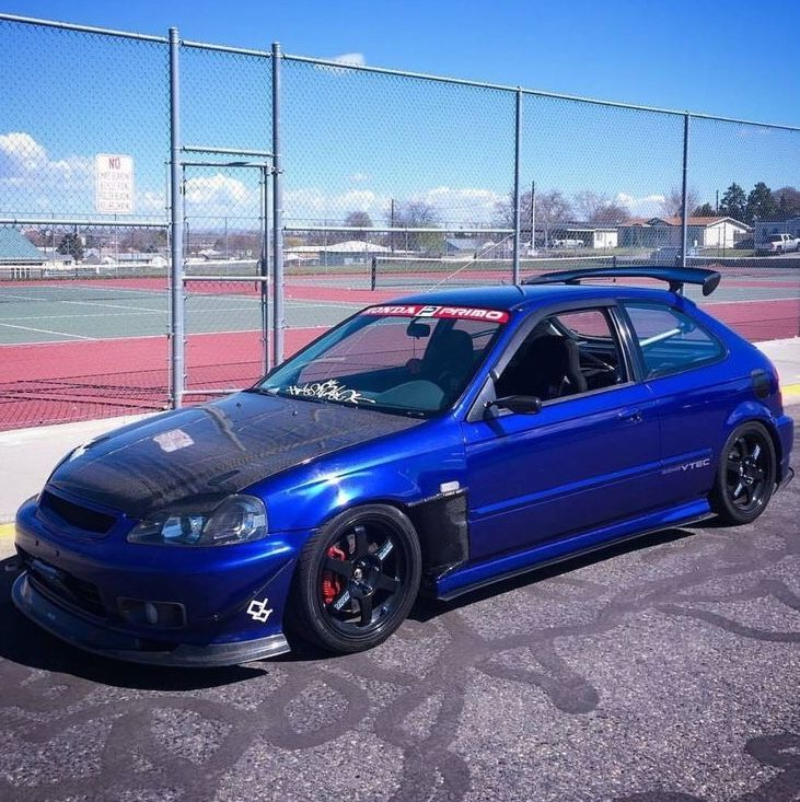 Blue Civic Ek Hatchback Hondapower Honda Civic Hatchback Honda